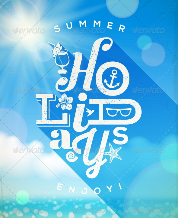 GraphicRiver Summer Holidays Type Design 7249698
