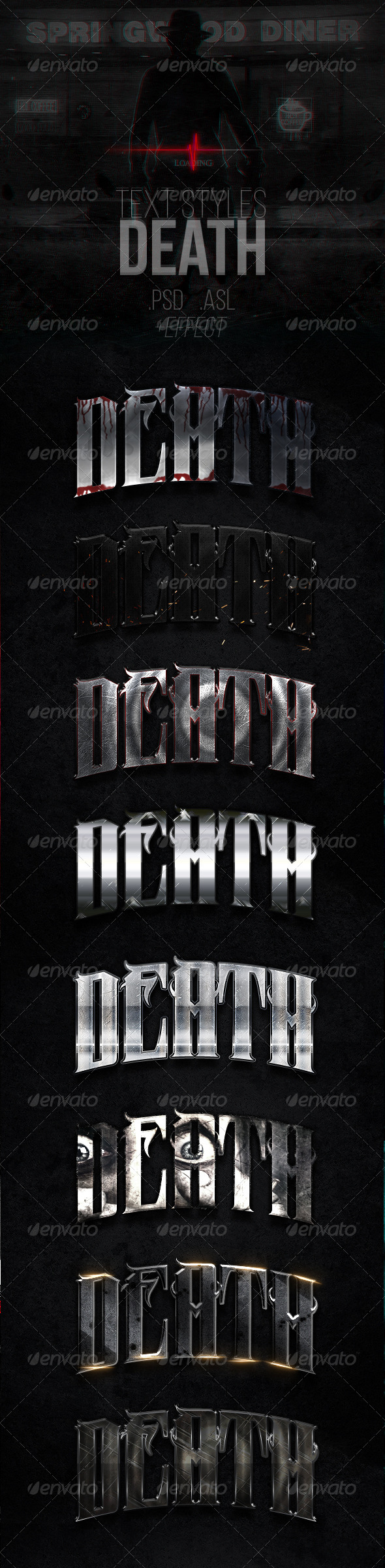 GraphicRiver Death Text Styles 7249723