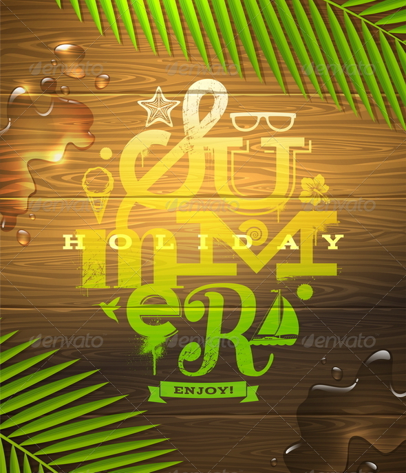 GraphicRiver Summer Holidays Type Design 7249787