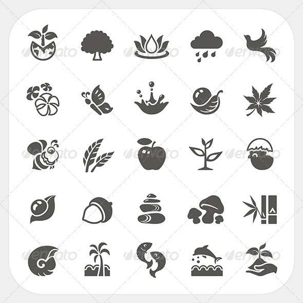 GraphicRiver Nature Icons Set 7249792