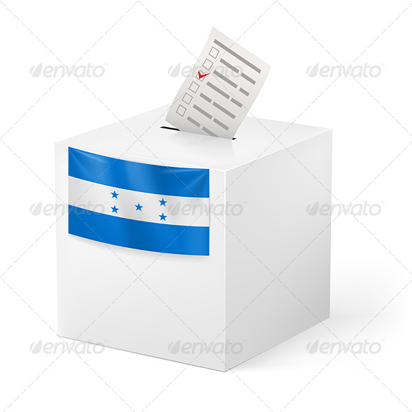 GraphicRiver Ballot Box with Voting Paper Honduras 7249795