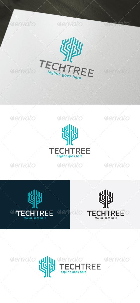 GraphicRiver Tech Tree Logo 7249804