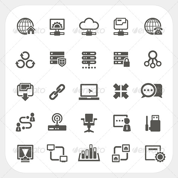 GraphicRiver Network Icons Set 7249820