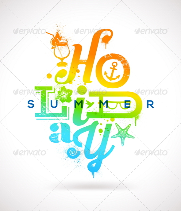 GraphicRiver Summer Holidays Multicolored Design 7249859