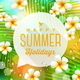 Speech Bubble with Summer Holidays Greeting - GraphicRiver Item for Sale