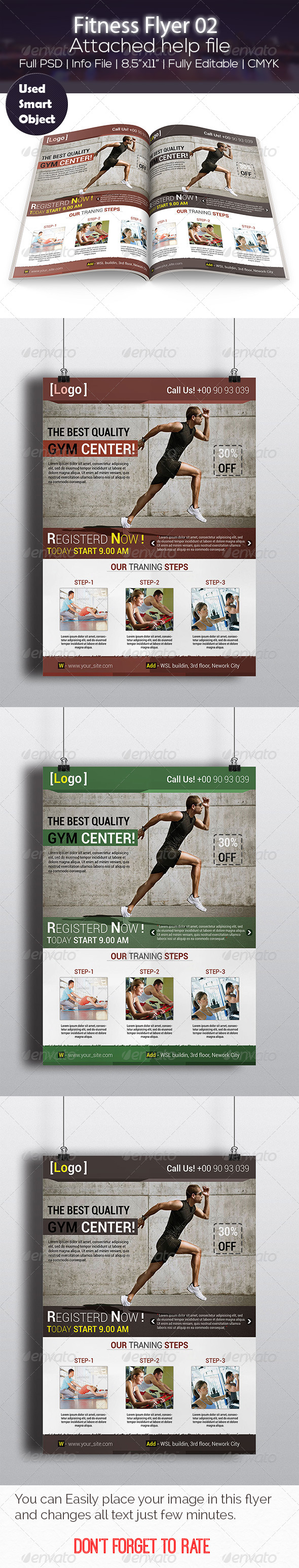 GraphicRiver Fitness Flyer 02 7249946