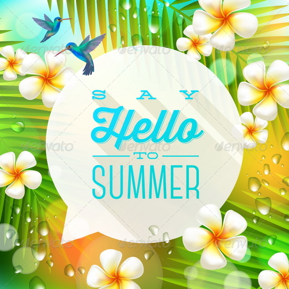 GraphicRiver Speech Bubble with Summer Greeting 7249957