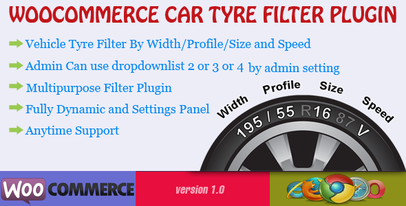 CodeCanyon Woocommerce Car Tyre Filter Plugin 7249968