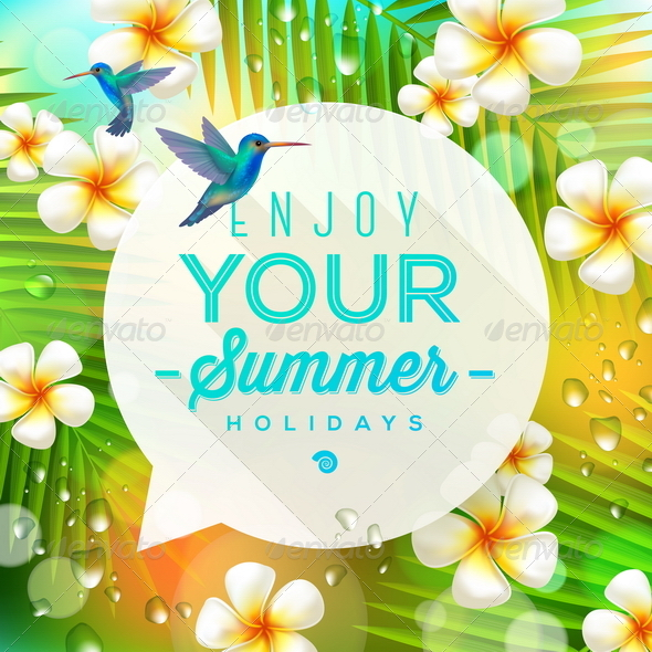 GraphicRiver Speech Bubble with Summer Greeting 7249970