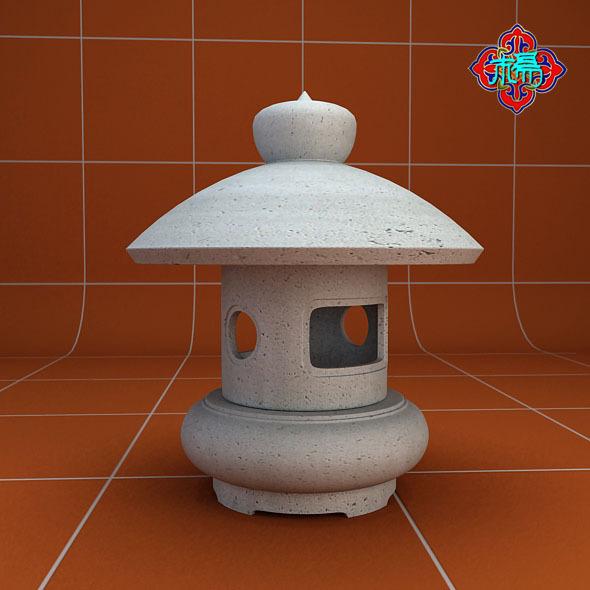 3DOcean Stone lamp C 7249986