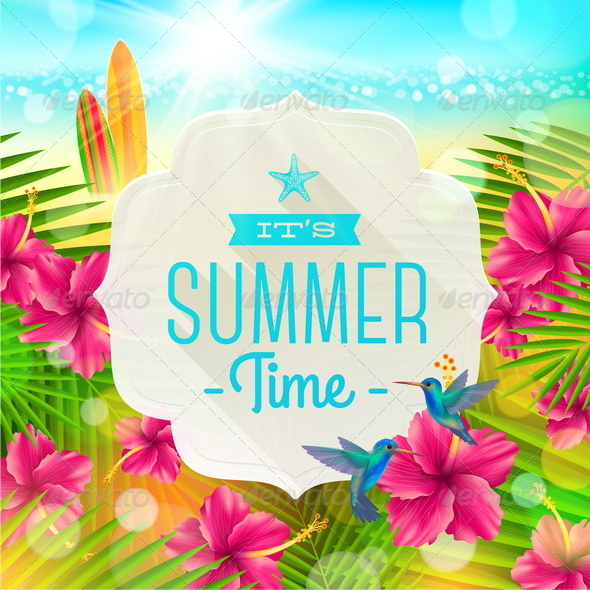 GraphicRiver Summer Greeting Illustration 7250001