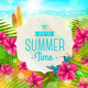 Summer Greeting Illustration - GraphicRiver Item for Sale