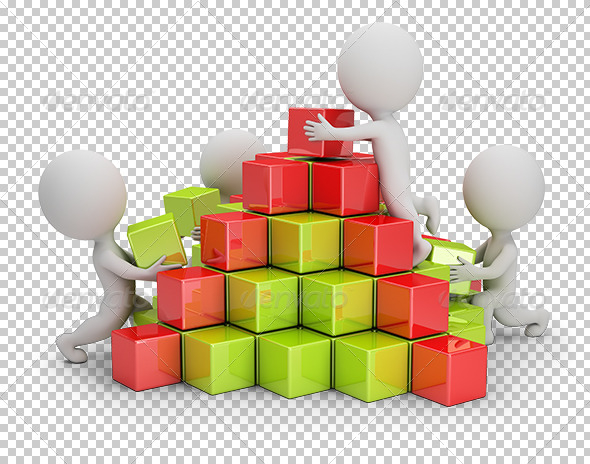 GraphicRiver 3D Small People Business Pyramid 7250006