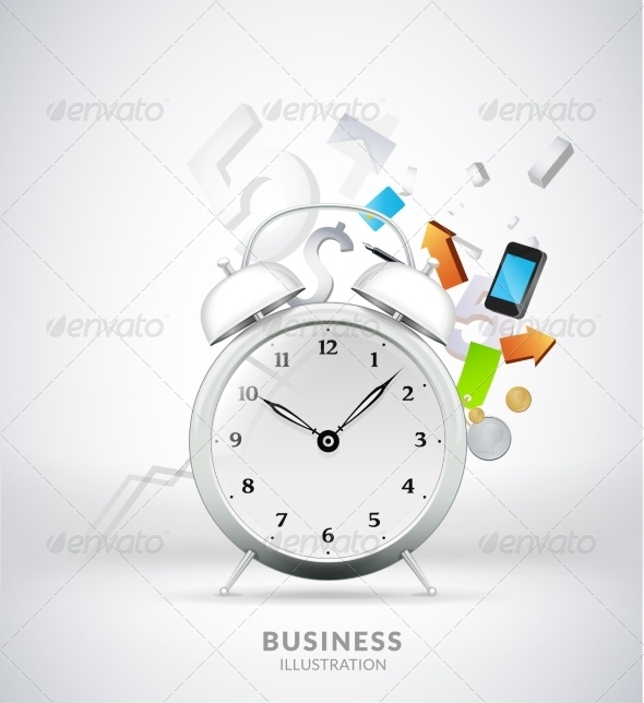 GraphicRiver Time Management Conceptual Illustration 7250010