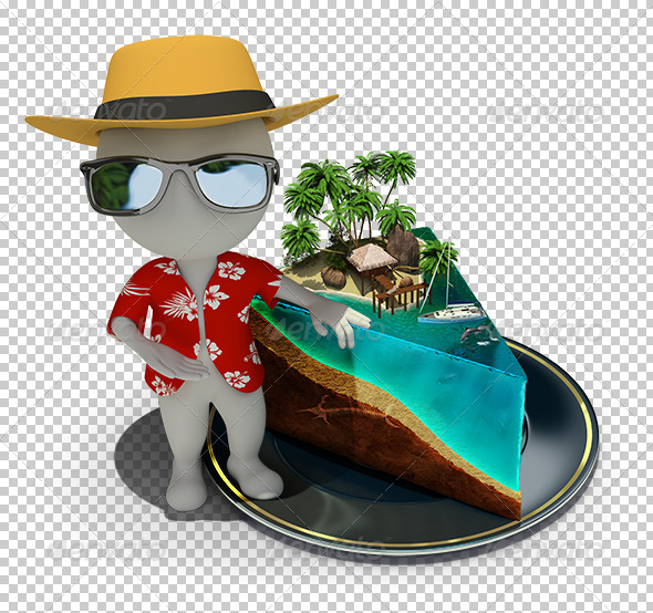 GraphicRiver 3D Small People Piece of Paradise 7250011