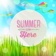 Summer Greeting with Kites and Grass - GraphicRiver Item for Sale