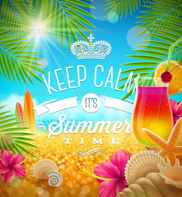GraphicRiver Summer Tropical Holidays Design 7250030