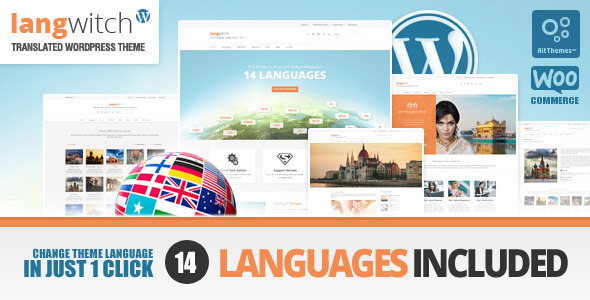 ThemeForest Langwitch Multi Purpose WP Theme in 14 Languages 7170850