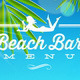 Tropical Beach Bar Menu Design - GraphicRiver Item for Sale