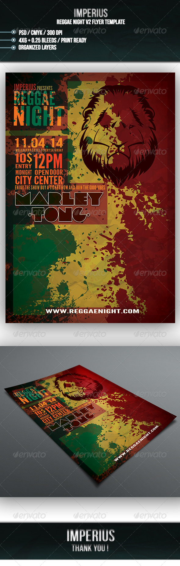 GraphicRiver Reggae Night V2 7215908