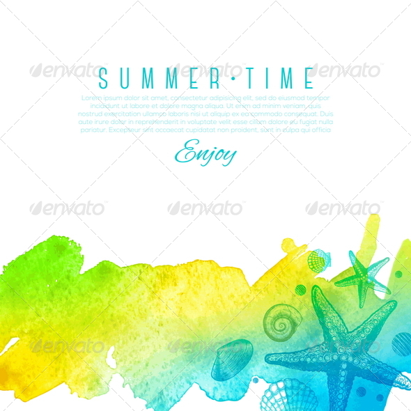 GraphicRiver Sea Nature Summer Design 7250333