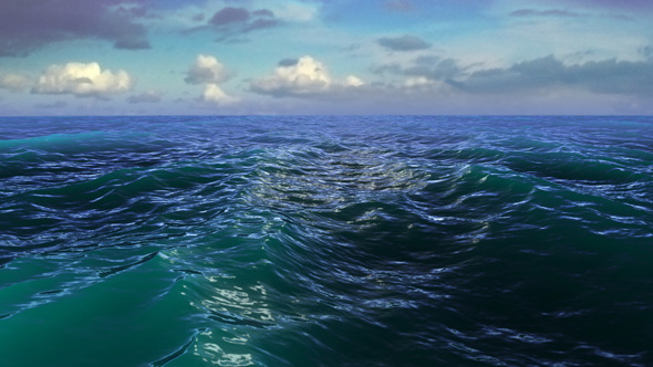 VideoHive Water Horizon Clouds 7250368