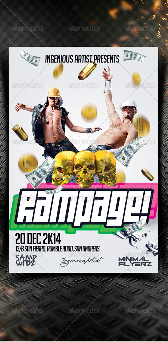 GraphicRiver Rampage Party Flyer 7250588
