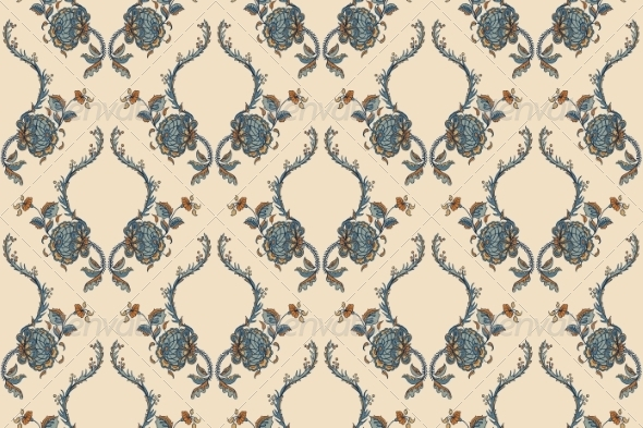 GraphicRiver Elegance Seamless Pattern with Flowers 7250596