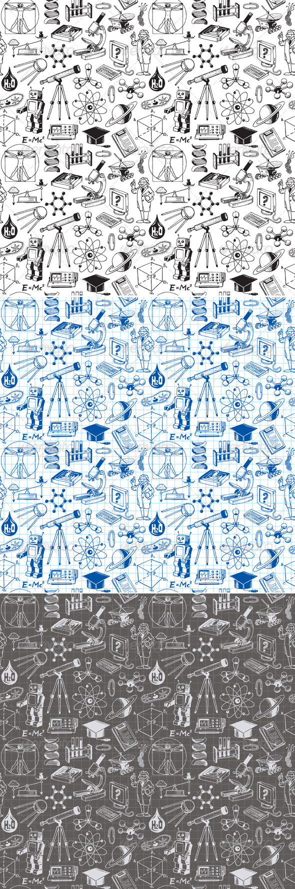 GraphicRiver Science and Education Seamless Pattern 7250709