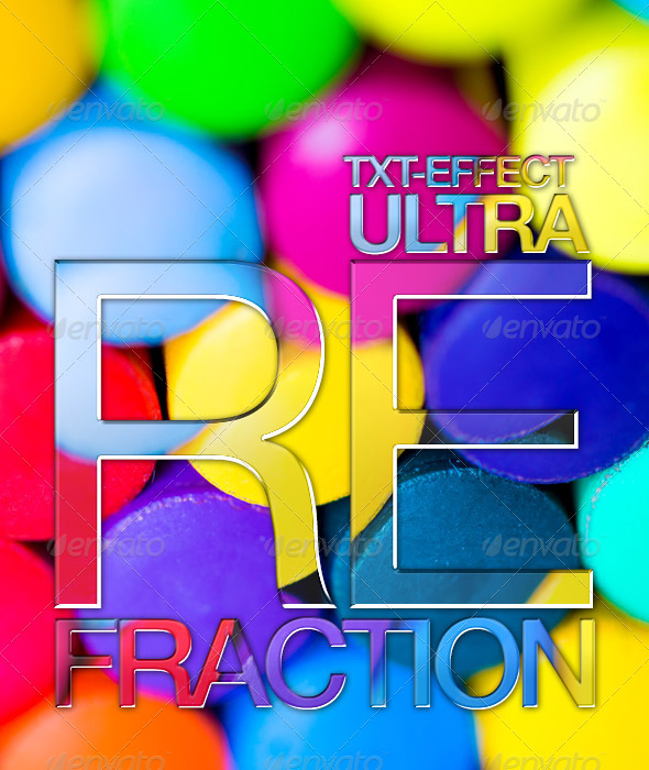 GraphicRiver Light Refraction Texteffect 7250887