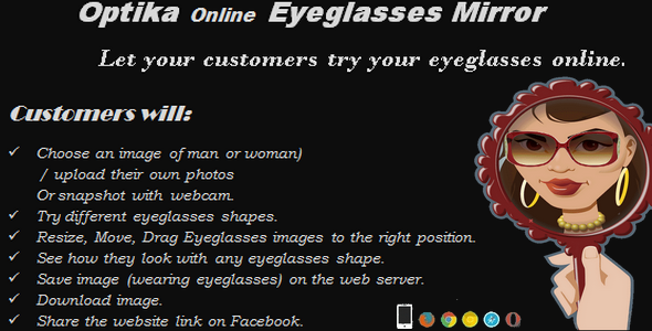 CodeCanyon Optika Eyeglasses Mirror fully responsive 7250989