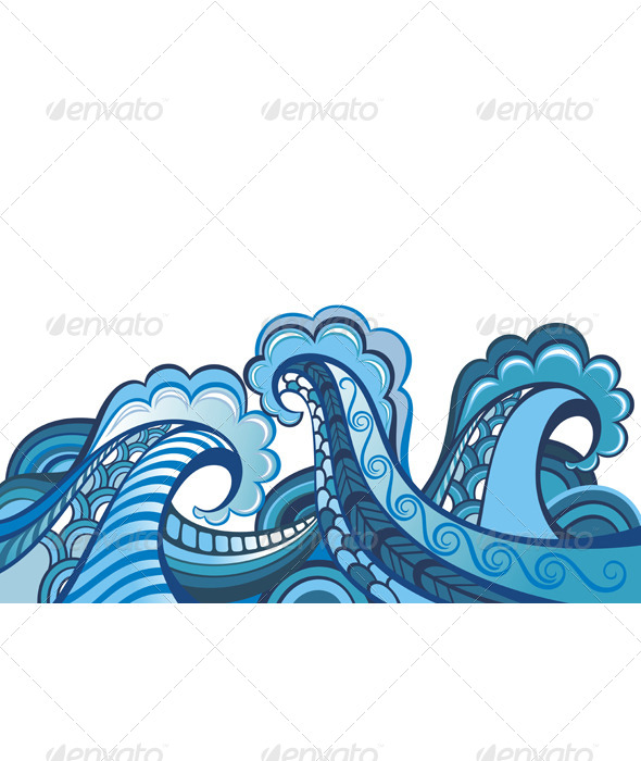 GraphicRiver Illustration of Sea Waves 7251071
