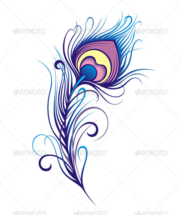 GraphicRiver Stylized Peacock Feather 7251075