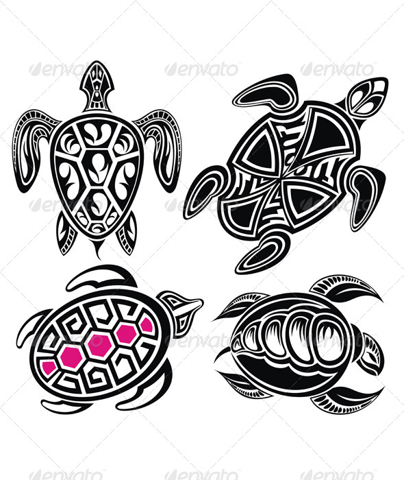 GraphicRiver Vector Illustration of Turtles 7251306