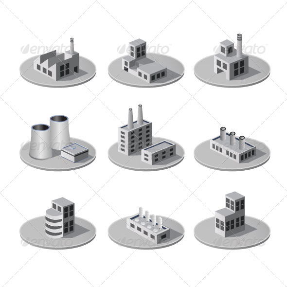 GraphicRiver Isometric City 7251318