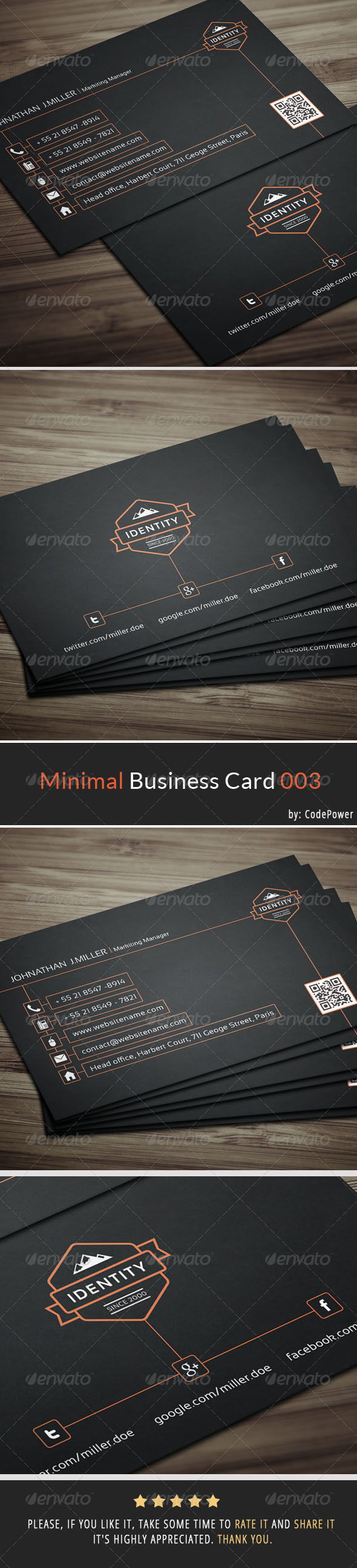 GraphicRiver Minimal Business Card 003 7216688