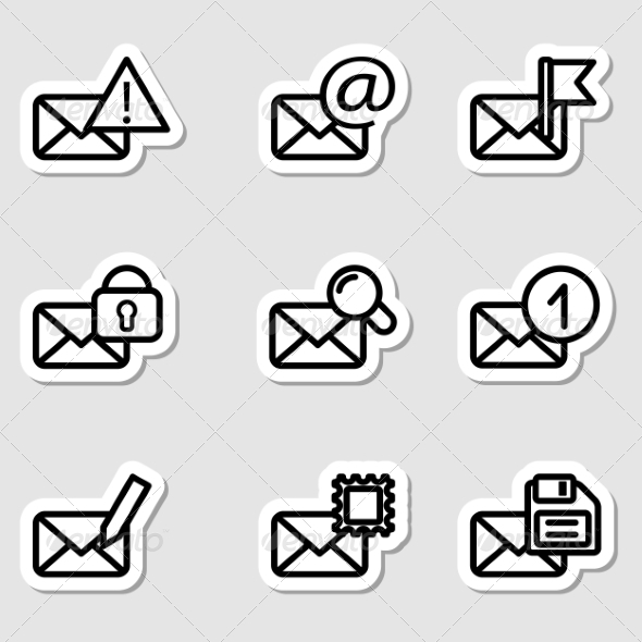 GraphicRiver Envelopes Icons as Labels Vol2 7251515
