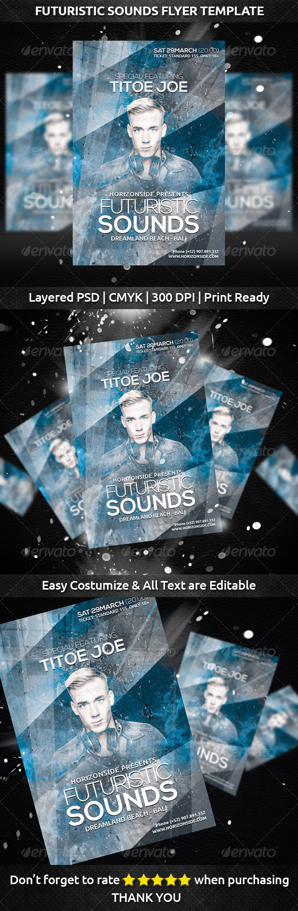 GraphicRiver Futuristic Sounds Flyer Template 7251547