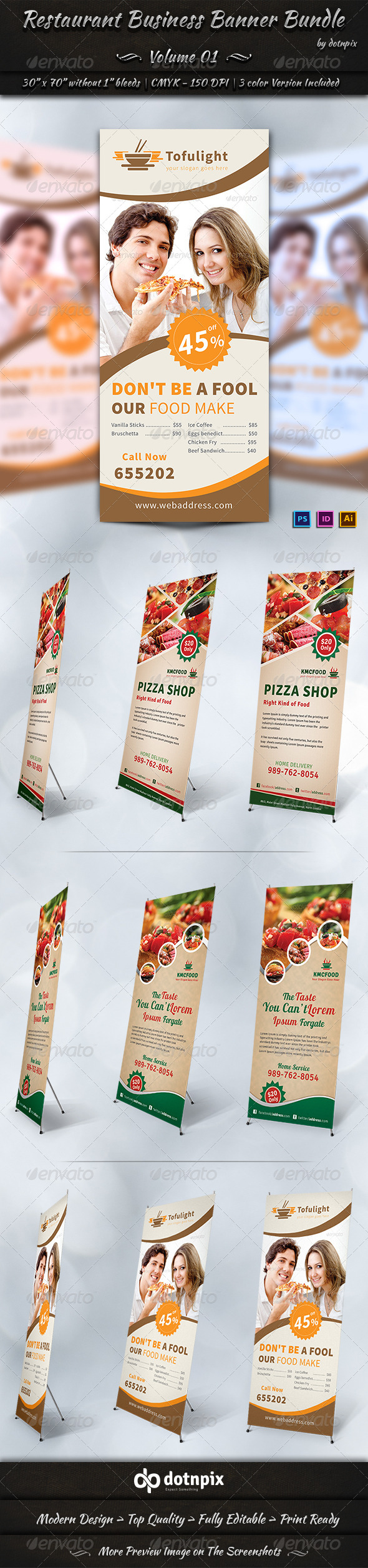 GraphicRiver Restaurant Business Banner Bundle Volume 1 7251554