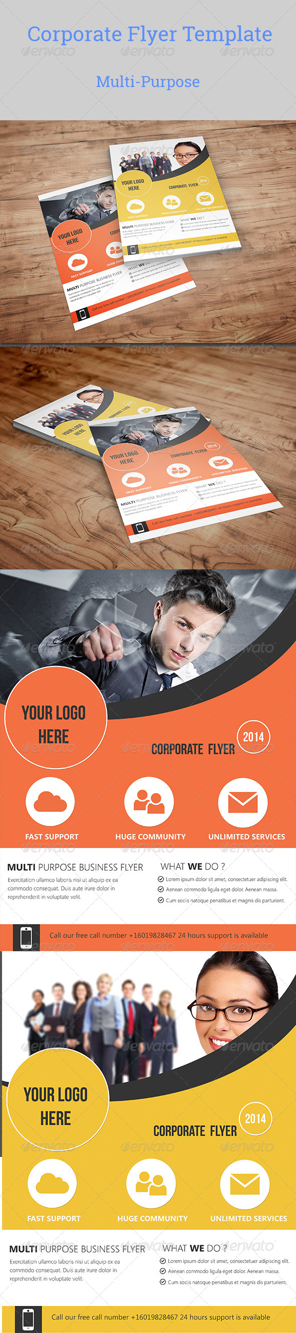 GraphicRiver Corporate Business Flyer Template 7251613