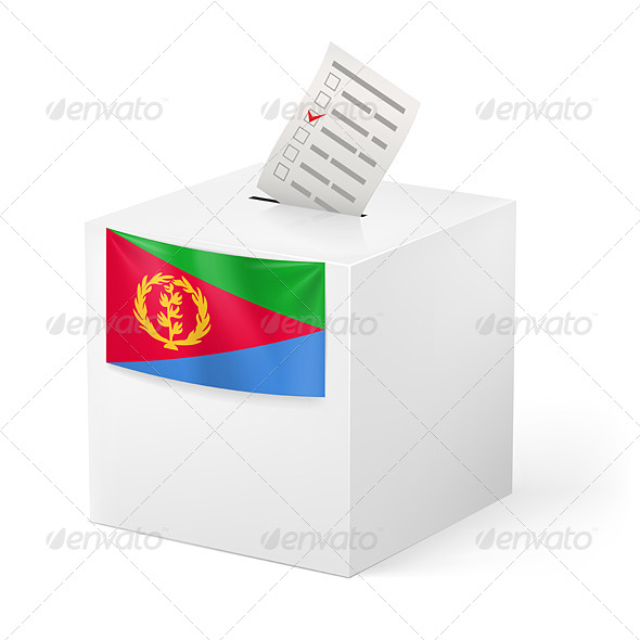 GraphicRiver Ballot Box with Voting Paper Eritrea 7251684