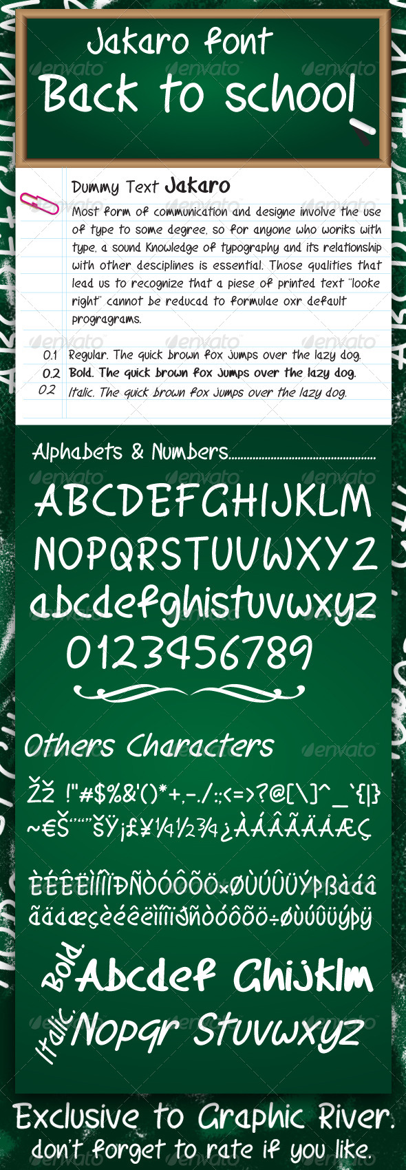 GraphicRiver Jakaro font 7251793
