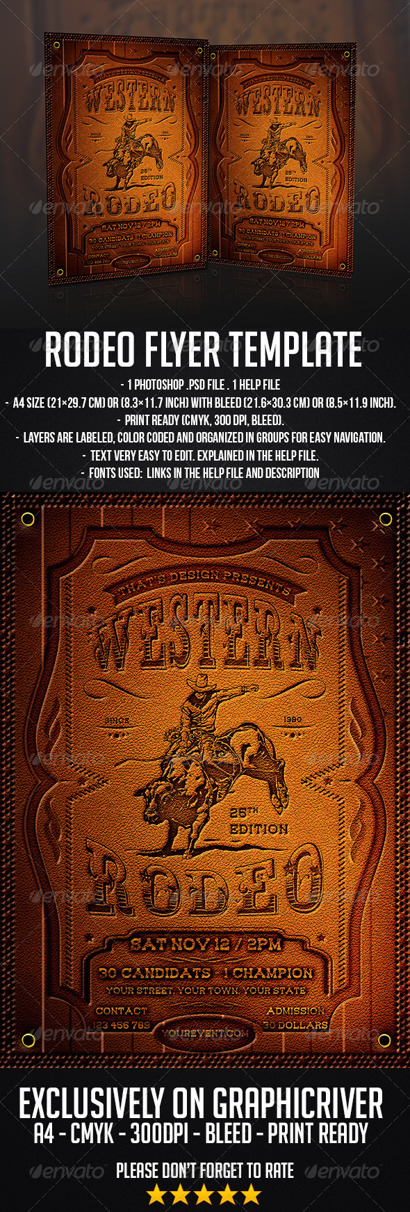 GraphicRiver Rodeo Flyer Template 7252302
