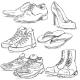 Set of Sketch Shoes - GraphicRiver Item for Sale