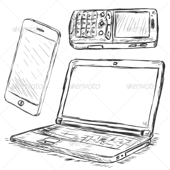 GraphicRiver Vector Set of Mobile Digital Devices 7252411