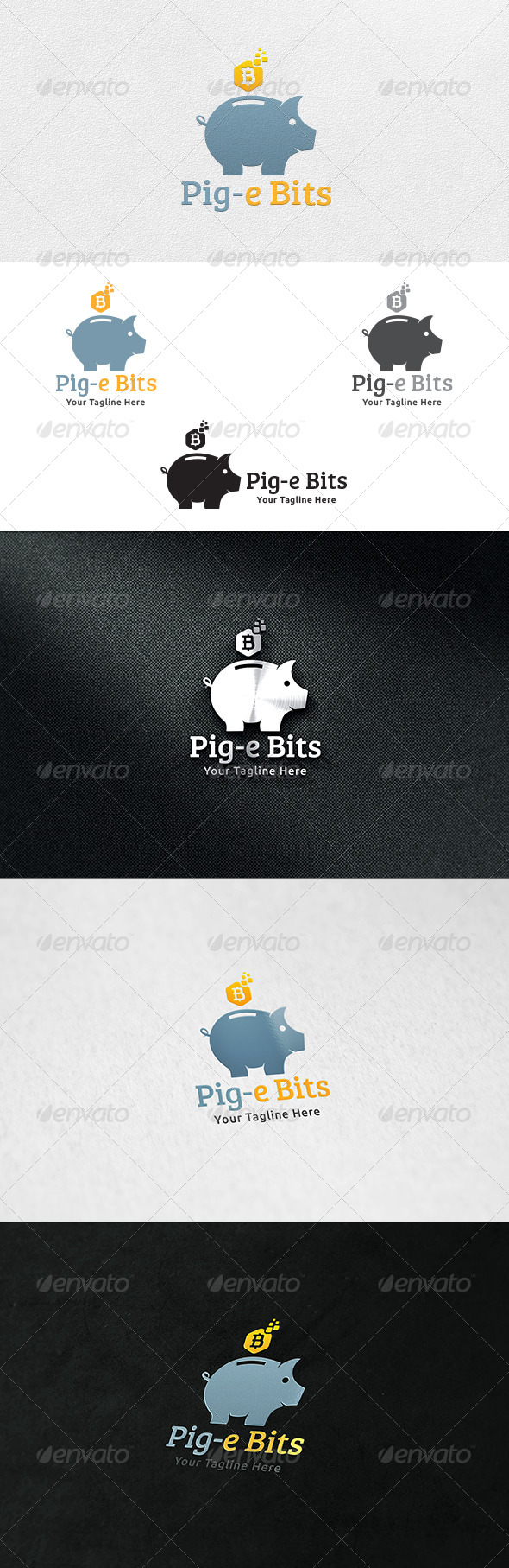 GraphicRiver Piggy Bit Bank Logo Template 7252441