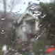 Rain - 37 - House Through Wet Window Glass - VideoHive Item for Sale