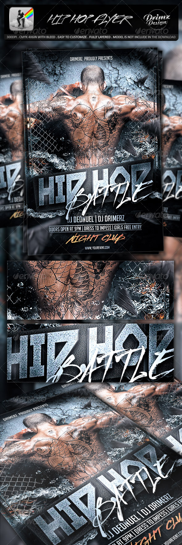 GraphicRiver Hip Hop Flyer 7253611