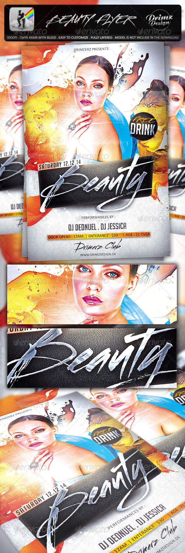 GraphicRiver Beauty Flyer 7253620