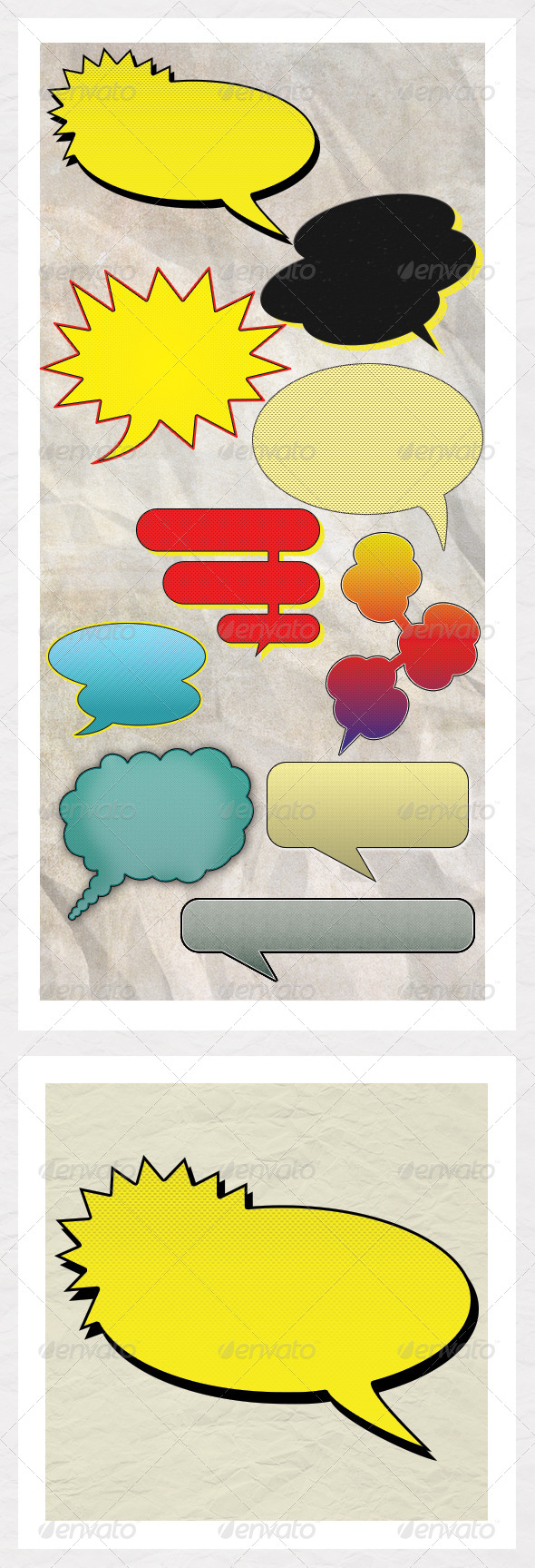 GraphicRiver Vintage Comic Book Speech Bubbles 7253829